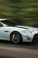 미리보기 iPhone 배경 화면 재규어 XKR-S GT 흰색 차량 속도
