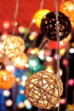 Preview iPhone wallpaper Lanterns, lights, colored, bokeh