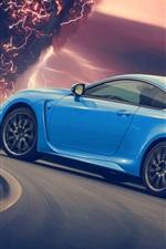 Preview iPhone wallpaper Lexus RC-F blue supercar