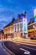 Preview iPhone wallpaper London, England, city, street, building, lights, evening