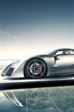 Preview iPhone wallpaper Marussia B2 supercar side view