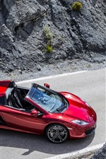 McLaren MP4-12C red supercar top view