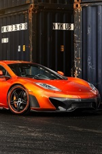 Preview iPhone wallpaper McLaren MP4-VX orange supercar side view, container