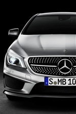 Preview iPhone wallpaper Mercedes-Benz CLA Class car front view
