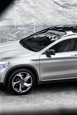 Preview iPhone wallpaper Mercedes-Benz GLA concept silver car top view