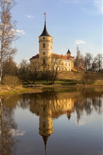 Preview iPhone wallpaper Pavlovsk, Russia, lake, trees