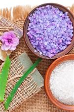 Preview iPhone wallpaper Spa, soap, lavender, salt, coffee, aloe, flowers