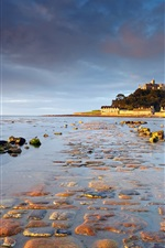 Preview iPhone wallpaper St Michael's Mount, Cornwall, England, sunrise, water