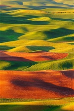 Preview iPhone wallpaper Steptoe Butte State Park, United States, valle, fields, beautiful scenery