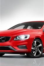 미리보기 iPhone 배경 화면 볼보 S60 R-디자인 빨간 자동차