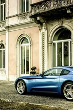 2015 Ferrari Berlinetta blue car side view