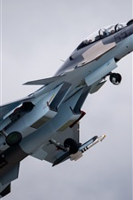 Preview iPhone wallpaper Aircraft, Su-30 fighter