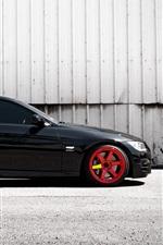BMW black E92 335i car side view