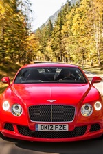 Preview iPhone wallpaper Bentley Continental GT red supercar