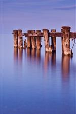 Preview iPhone wallpaper Canada, Ontario, lake, dock, water, blue