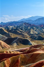 Preview iPhone wallpaper China, Zhangye Danxia, mountains