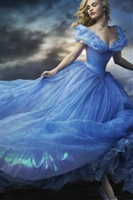 Preview iPhone wallpaper Cinderella 2015 movie, Lily James