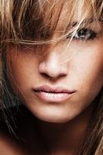 Fashion girl, face, eyes, hair