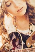 Guitar girl, music