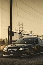 Preview iPhone wallpaper Honda Accord Acura black car