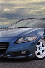 iPhone壁紙のプレビュー ホンダCR-Z青い車