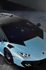 Lamborghini light blue supercar top view