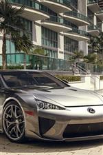 iPhone fondos de pantalla Lexus LFA vista frontal superdeportivo plata