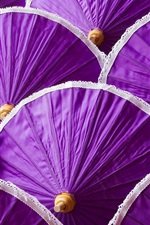 Preview iPhone wallpaper Many purple umbrella