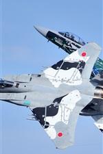 미리보기 iPhone 배경 화면 미쓰비시 F-15DJ 전투기, 비행, 하늘