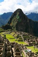 Peru, Machu Picchu, cidade antiga, colinas