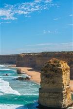 Sea, ocean, coast, cliff, rock