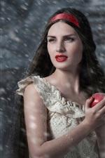 iPhone обои Белоснежка, яблоко, девушка