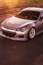 Subaru BRZ silver car