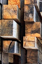 Preview iPhone wallpaper Timber, wood