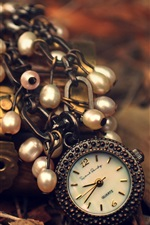 Watch, pendant, lock, leaves