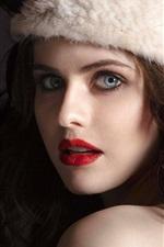 Preview iPhone wallpaper Alexandra Daddario 01