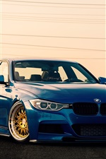 BMW 3 Series F30 sedan, blue car