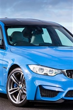Preview iPhone wallpaper BMW M3 F80 blue car 2014