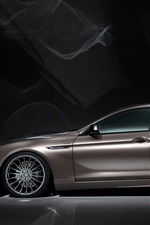 Preview iPhone wallpaper BMW M6 Hamann brown car side view