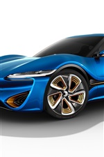 Blue concept supercar
