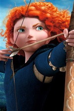 Preview iPhone wallpaper Brave, cartoon movie, Merida, archer