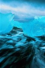 Cold, ice, sea, blue style