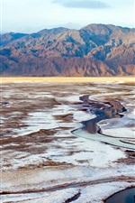 미리보기 iPhone 배경 화면 죽음의 계곡, 국립 공원, 캘리포니아, 미국, 산, 소금 호수