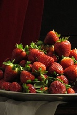 Preview iPhone wallpaper Desktop, strawberries, plates