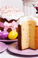Preview iPhone wallpaper Easter, cake, eggs, spring, decoration