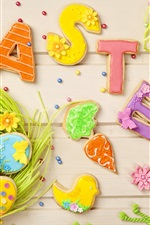 Preview iPhone wallpaper Easter, colorful cookies