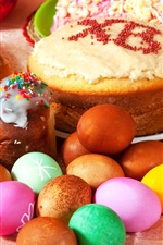 Preview iPhone wallpaper Easter holidays, eggs, cakes