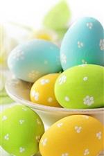 Eggs, Easter, flowers, spring