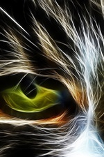 Preview iPhone wallpaper Eyes, cat, abstraction