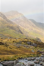 Preview iPhone wallpaper Great Britain, Wales, Snowdonia, National Park, mountains